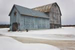 A softly lit blue barn near New Liskeard, Ontario Canada. I love what the light does in March.  Open Edition print: 12
